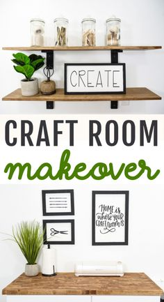 It's time for the Ultimate DIY Cricut  Craft Room Transformation! This is the result of us turning a small nook into a  crafty space complete with tips and cost breakdown. #cricut #diecutting #diecuttingmachine #cricutmachine  #cricutmaker #diycricut #diycricutprojects #cricutideas #cutfiles #svgfiles  #diecutfiles #cricutideas #diycricutprojects #cricutprojects #cricutcraftideas  #diycricutideas