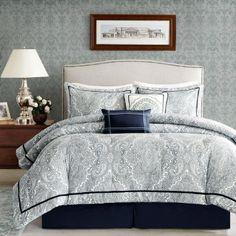 Harbor House Naples 250 Thread Count 4-Piece Comforter Set, Queen, Multi Color