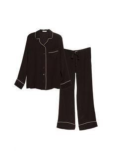 AVERY PAJAMA SET in black.