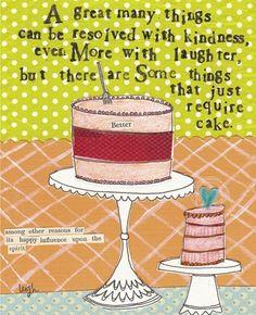 yep. cake, need it.