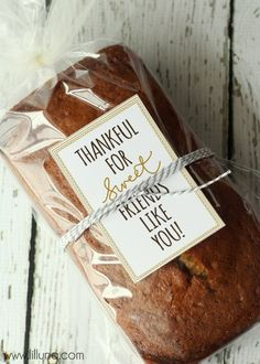 Thankful for Sweet Friends Like You Tag - Free download on { lilluna.com }