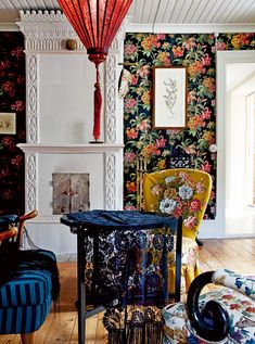 Mix patterns & colour. Summer house on the Swedish island of Gotland. Elle SE