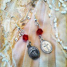 Delicate Nun earrings (backside) by gigideluxe on Etsy, $25.00