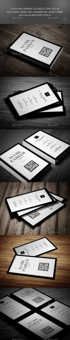 Clean and Minimal Business Card Vol-08 #businesscard #graphic #corporate #stylish