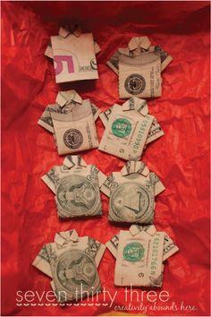 folding money for gift giving
