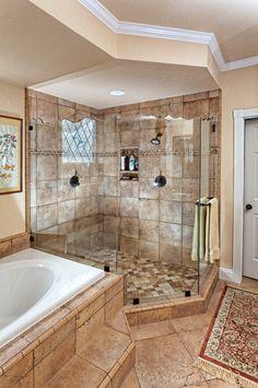 Master bath ideas on pinterest for Caribbean bathroom ideas