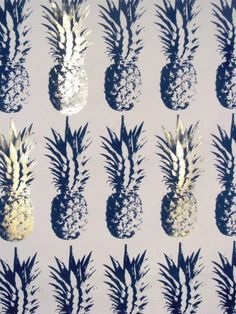 Golden Pineapples // my bathroom is gonna have pineapple wallpaper. They're the happiest fruit!