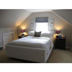 bedroom ideas slanted ceilings on pinterest attic office sloped ce
