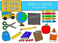 Back to School Clip Art set