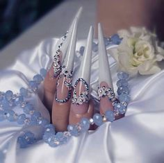 Weding stiletto nailart, wede stiletto
