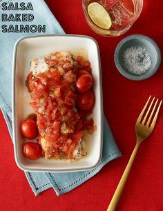 Salsa Baked Salmon Recipe