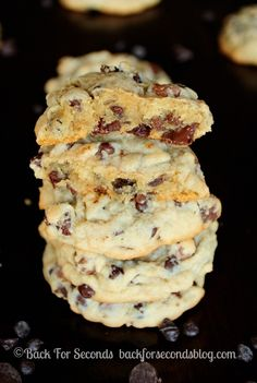 Learn how to make The PERFECT Soft Baked Chewy Chocolate Chip Cookie - These are so thick and chewy, and EASY!!