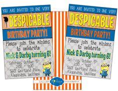 Despicable Me Minion Birthday Party Invitation