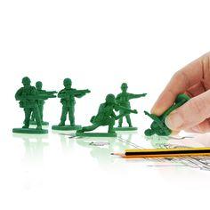 Army Men Erasers