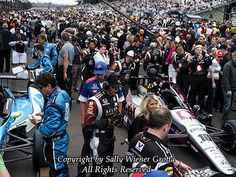 Crowds on the grid before the start of the Indy 500. Yep, I was there! And I learned a lot about racing and the computers behind the high performance.