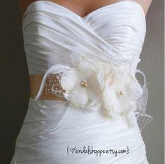 Wedding Sash Bridal Belt  Lacy -Champagne and Ivory Lace Bridal Sash