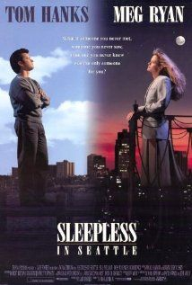 Sleepless in Seattle (1993) - Romantic Comedy with Tom Hanks and Meg Ryan.                         When a widower's son calls in to a radio talk show because his dad is sad. Women write in and want to date him.