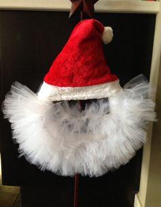 Homemde Santa Holiday Tulle Wreath