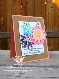 nice people STAMP!: Flower Fair is Fab! Stampin' Up! by Allison Okamitsu