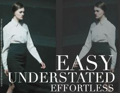 How to get an effortless sense of style here http://www.focusonstyle.com/stylist-advice/effortless-sense-of-style/  #effortlessstyle #chic