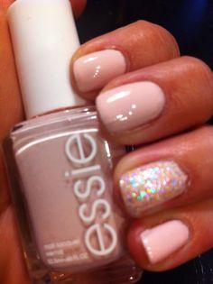 Essie Fiji w/ China Glaze Snow Globe...love this color!