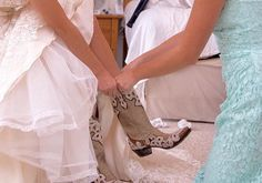 Old Gringo brides are the best kinds of brides. #westernwedding #oldgringoboots √