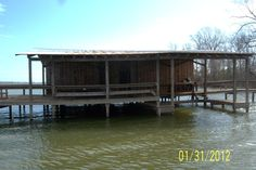 Cool looking boat dock on Eagle Lake, Vicksburg MS