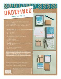 New Undefined Stamp Carving Kit from Stampin'Up! and Video