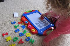 magnetic letters on magnadoodle