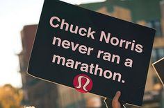 Perfect motivational sign to see when running a race. I love funny signs, especially during the last few miles; it pushes you to go a bit faster!