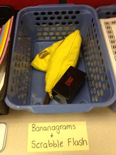 Bananagrams word work--use for phonics RtI--they must spell words following the pattern of the week