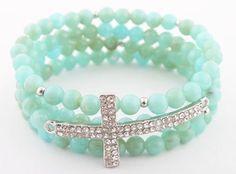 style bead, silver ice, turquoise, bracelets, ladi turquois, bead stretch, crosses, sideway cross, cross style