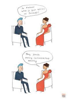 Katniss' opinion on feelings.