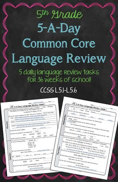 classroom, languages, 6th grade reading common core, 6th grade ela, common core 6th grade, common core 4th grade, languag review, daili common, core languag