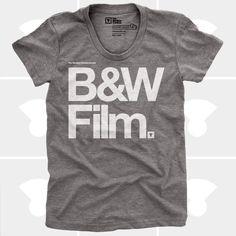 mediumcontrol, camera, film tshirt, bw film
