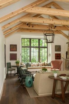 Upstate New York Weekend Home - rustic - living room - new york - jamesthomas, LLC