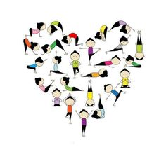 Wherever you are, whatever you're doing, sending you a little yoga love.