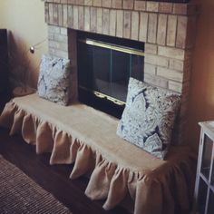 Baby proofing brick fireplace. Not exactly how  I would do it, but a great idea to get started