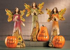 Angels Of The Harvest Figurines Holiday Seasonal Thanksgiving & Fall Decor