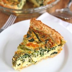 Quiche loaded with spring veggies and feta.