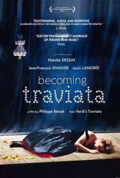 """A behind-the-scenes look at the staging of a major operatic production, Verdi's masterpiece, """"La Traviata, """" starring world-famous French coloratura soprano Natalie Dessay.  120 min.  http://highlandpark.bibliocommons.com/search?utf8=%E2%9C%93t=smartsearch_category=keywordq=becoming+dessaycommit=Search"""