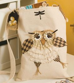 #sewmuchlove for this owl tote bag! #joannhandmade