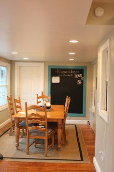 DIY chalkboard for the kitchen