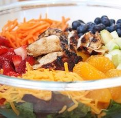 Under 300 calories! Perfect summertime lunch if you pair it with a vinaigrette!