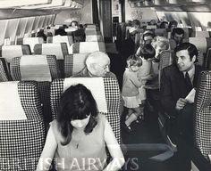 1960s - BOAC Boeing 707, Economy Cabin