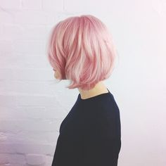 pink on short hair