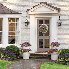 Create Your Own Custom Garden Southern Living has done the work for you. We've selected plants that grow well together and show off nonstop blooms all summer long. Add instant style to your front door, deck, or patio. Garden expert Carmen Johnston shows you how to get ready for entertaining with the Southern Living Color Collection found only at The Home Depot.   Click through for the Step-by-Step Video plant, southern living garden, southern front door, front doors, southern living front door, screen doors
