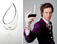 Unique wine glasses.