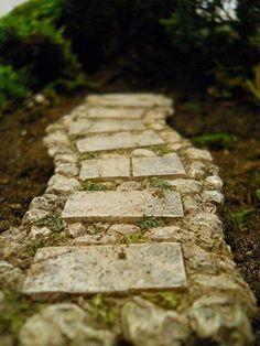 Stone Walkway, perfect for your fairy garden!    www.wholesalefairygardens.com
