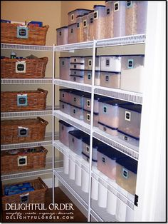 organized labeled pantry